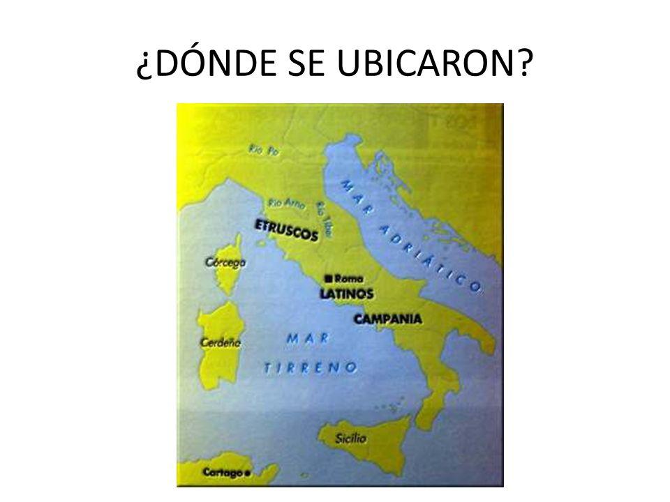 ¿DÓNDE SE UBICARON?