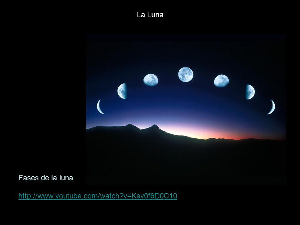 Fases de la luna http://www.youtube.com/watch?v=Ksv0f6D0C10 La Luna