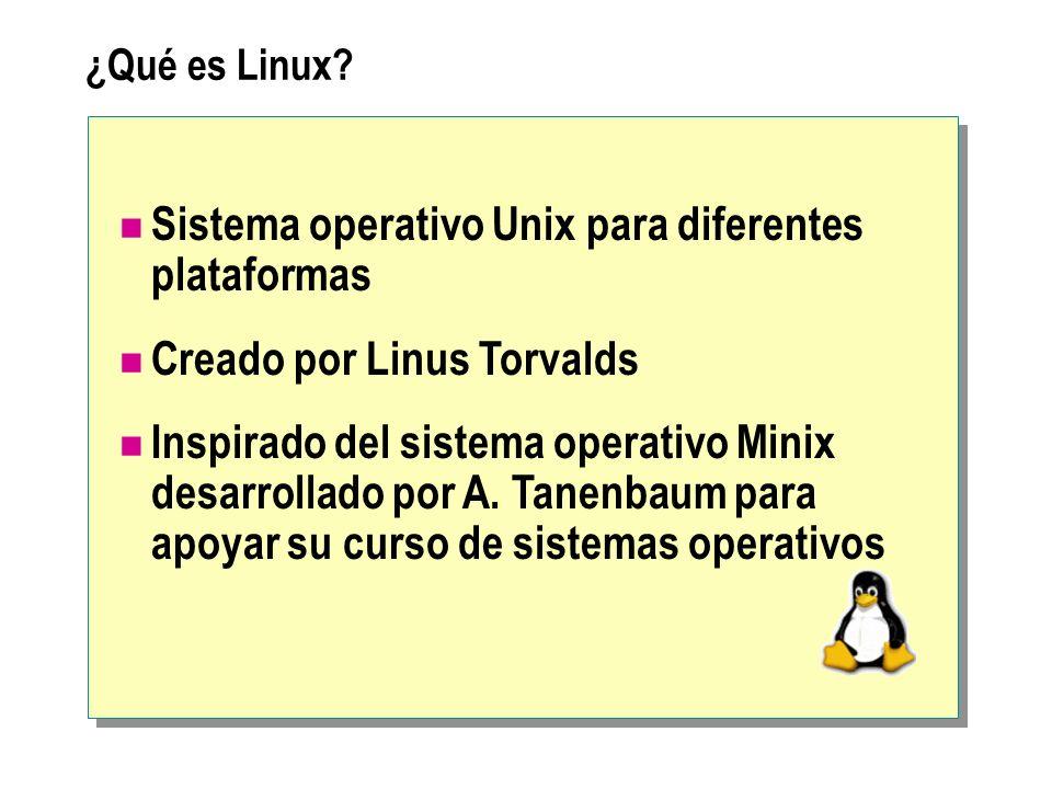 Particiones de Disco Creando las Particiones en el Hard Disk SwapSwapNativaNativa Nativa: Partición principal, donde se encuentra el kernel y el sistema LINUX Swap: Espacio del disco destinado para usarse como memoria virtual Recomendaciones: Dejar el doble de lo que se tiene en RAM Utilizar los primeros cilindros para el Swap Instalar primero Linux y Luego Windows cuando se comparte HW
