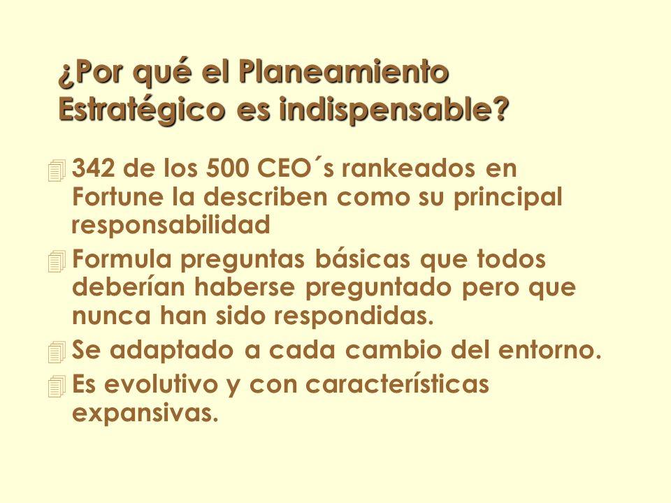 ¿Qué entendemos por Planeamiento Estratégico? 4 Moda de los 2000´s ?....!NO! 4 Debe ser: – Organizado y desarrollado sobre la base de procedimientos y
