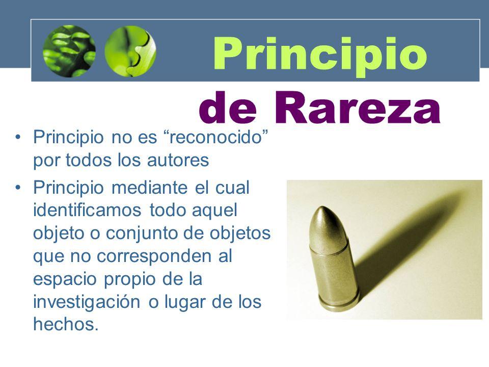 Principio no es reconocido por todos los autores Principio mediante el cual identificamos todo aquel objeto o conjunto de objetos que no corresponden