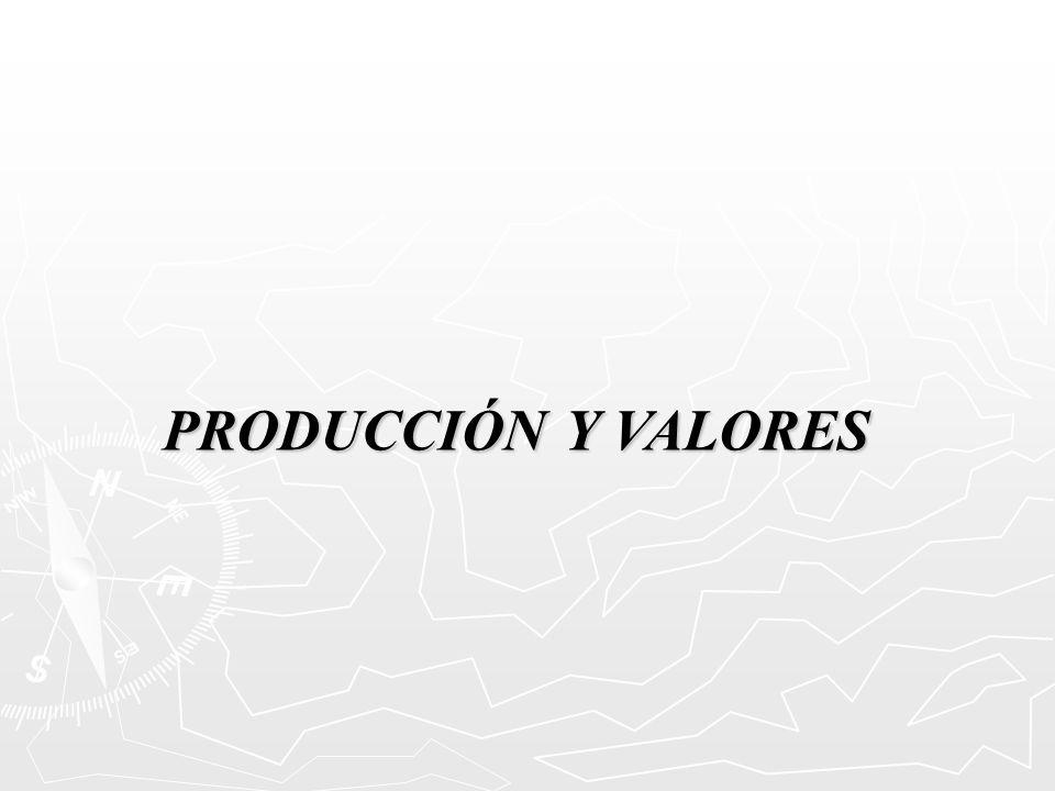 PRODUCCIÓN Y VALORES
