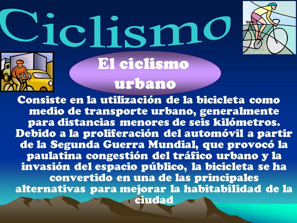 Consiste en la utilización de la bicicleta como medio de transporte urbano, generalmente para distancias menores de seis kilómetros.