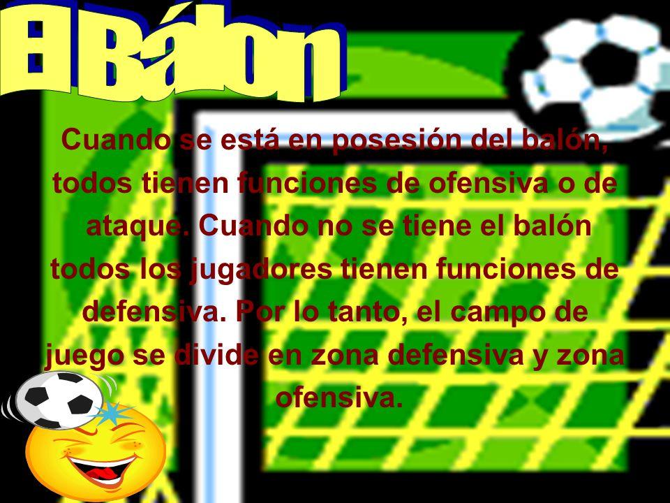 Funciones de los Jugadores Cada jugador tiene sus funciones específicas según la posición que ocupe dentro del equipo.