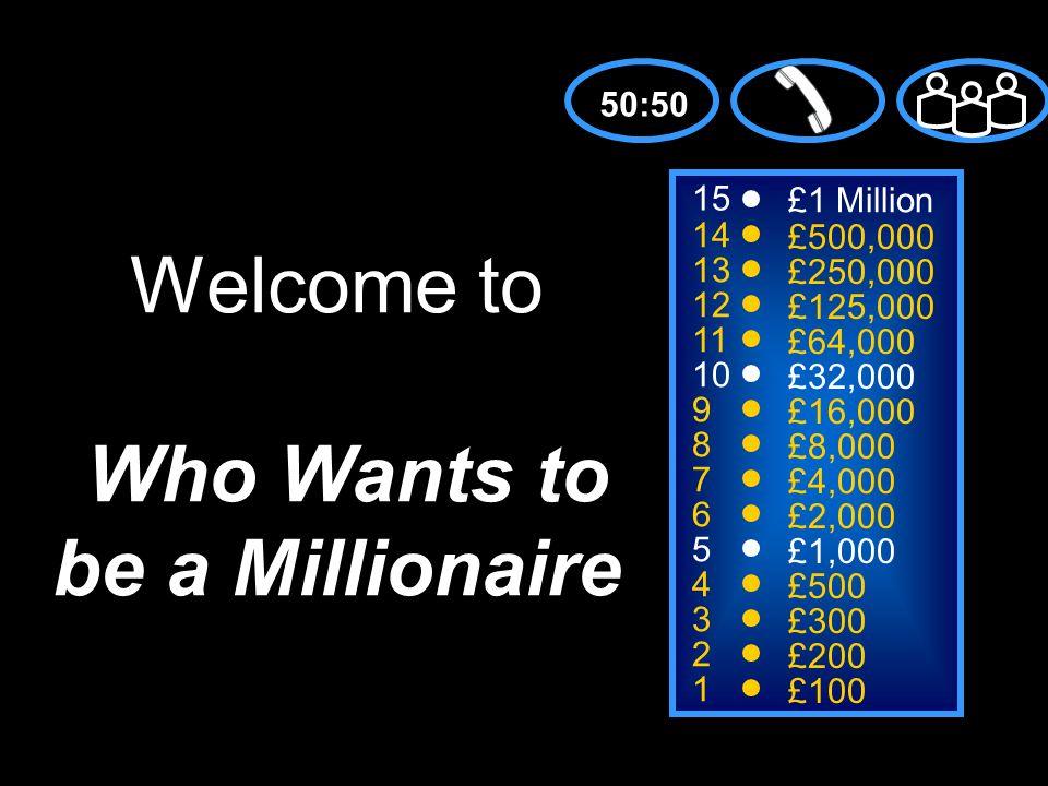 A: Tío C: Abuelo B: Tía D: Primo 50:50 15 14 13 12 11 10 9 8 7 6 5 4 3 2 1 £1 Million £500,000 £250,000 £125,000 £64,000 £32,000 £16,000 £8,000 £4,000 £2,000 £1,000 £500 £300 £200 £100 El hermano de mi padre es mi…