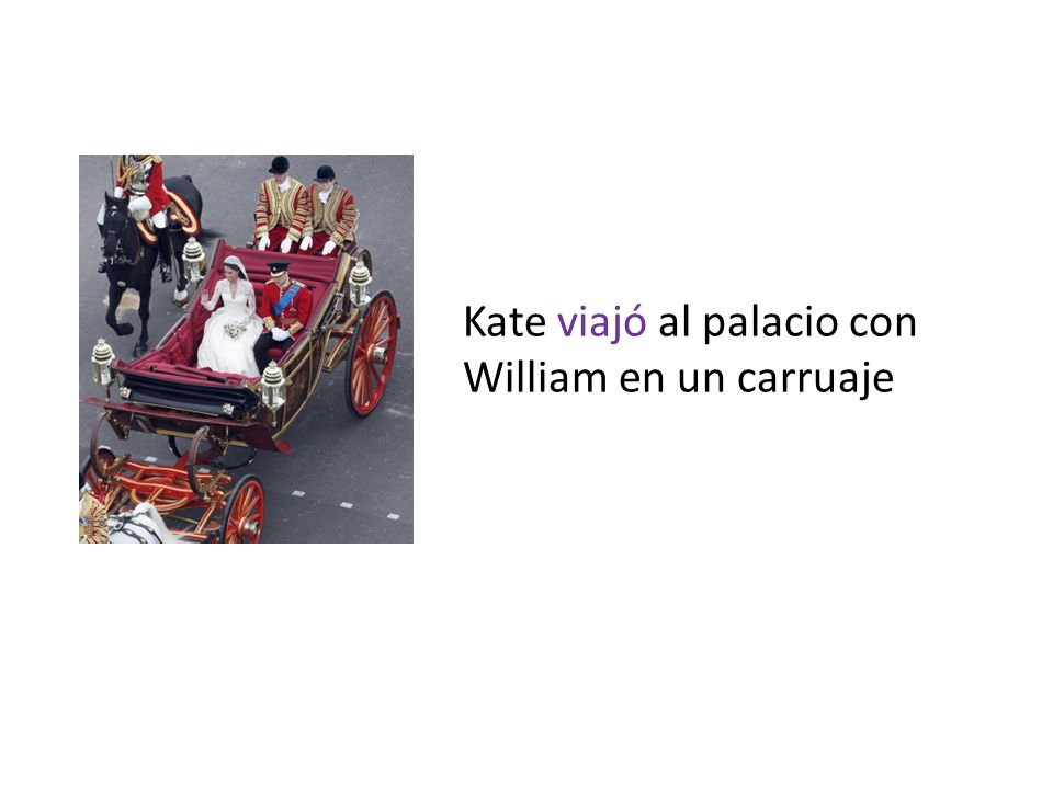 Kate viajó al palacio con William en un carruaje