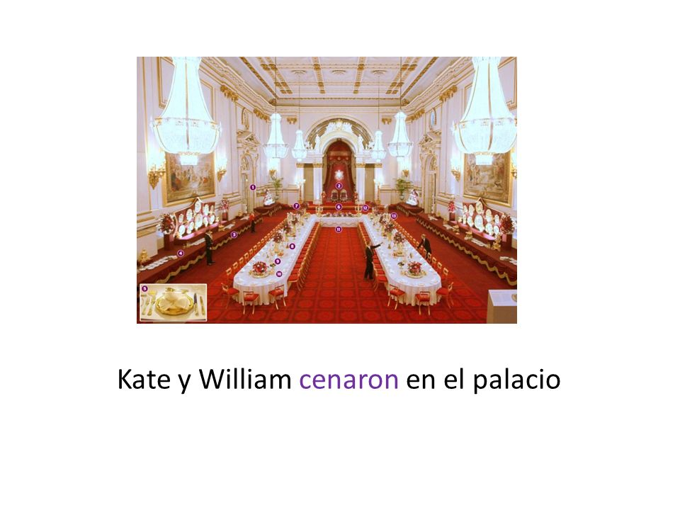 Kate y William cenaron en el palacio