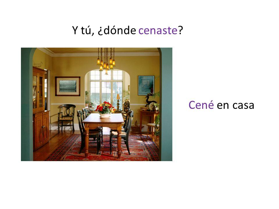 Y tú, ¿dónde cenaste Cené en casa