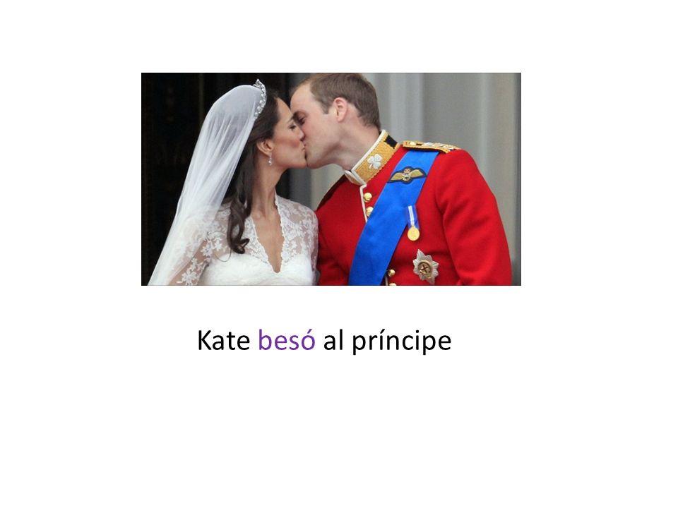 Kate besó al príncipe