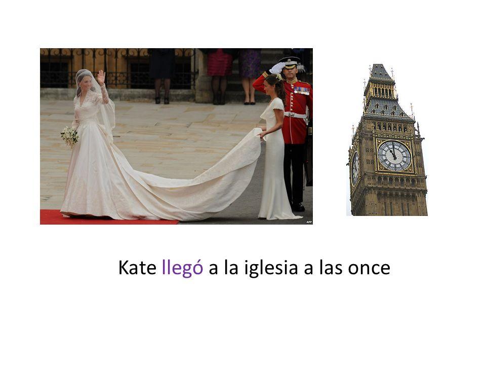 Kate llegó a la iglesia a las once