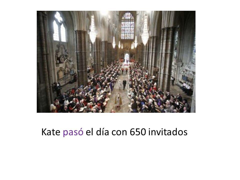 Kate pasó el día con 650 invitados
