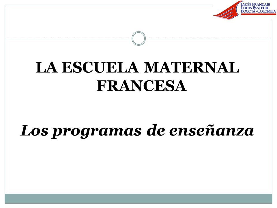 Integración de la escuela maternal y de la escuela elemental.