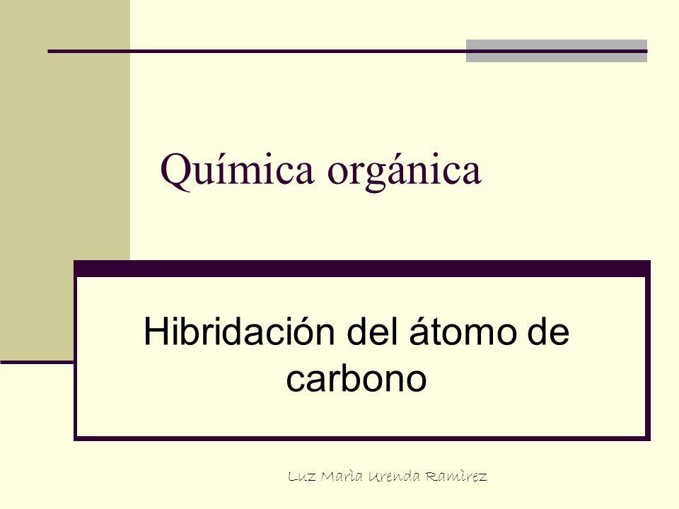 Química orgánica Hibridación del átomo de carbono Luz Marìa Urenda Ramìrez