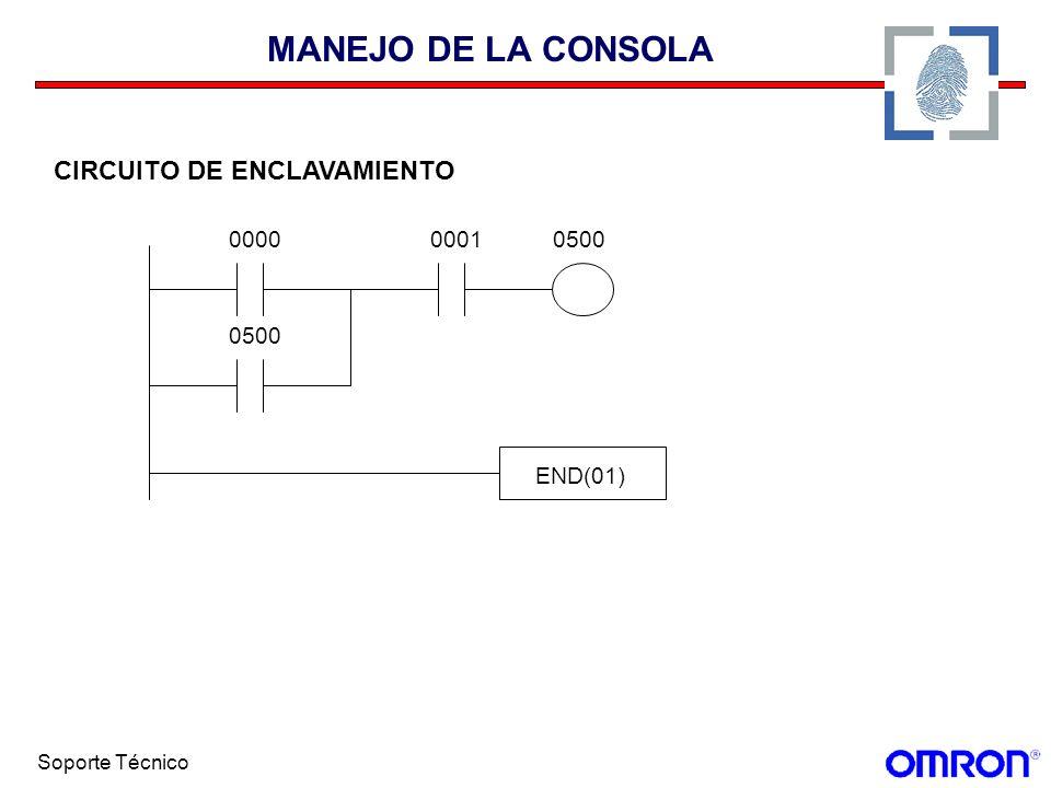 Soporte Técnico MANEJO DE LA CONSOLA CIRCUITO DE ENCLAVAMIENTO 00010000 0500 END(01)