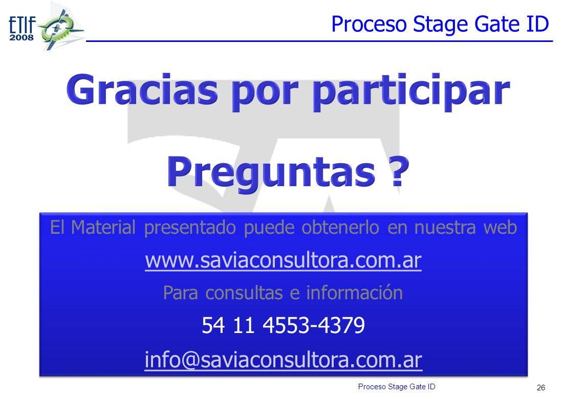 26 El Material presentado puede obtenerlo en nuestra web www.saviaconsultora.com.ar Para consultas e información 54 11 4553-4379 info@saviaconsultora.