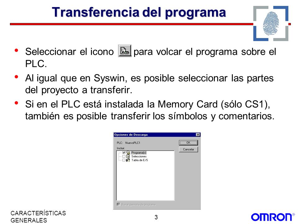 34 CARACTERÍSTICAS GENERALES Programación por Tareas.