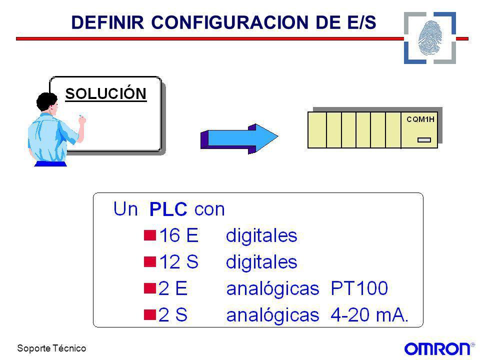 Soporte Técnico DEFINIR CONFIGURACION DE E/S