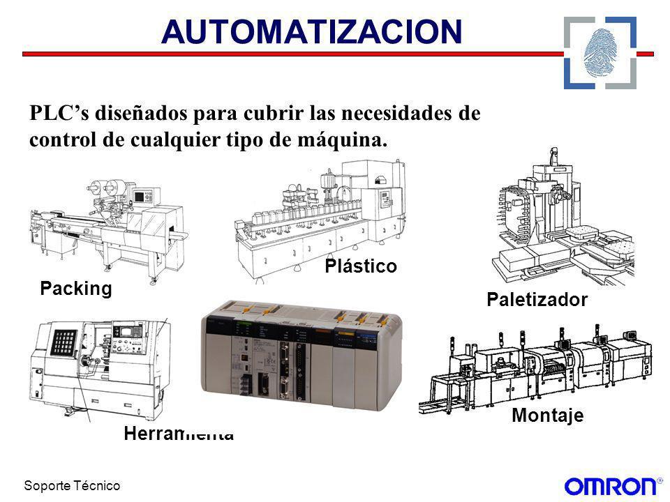 Soporte Técnico AUTOMATIZACION Control de planta Control de línea Telemando Tratamiento de aguas Domótica Gestión de energía Naútica Proyectos públicos Medio ambiente PLCs diseñados para cualquier aplicación de tipo industrial o no industrial.
