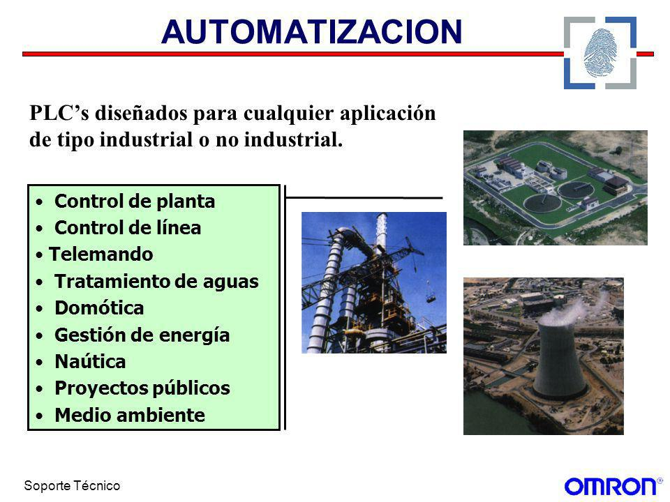 Soporte Técnico AUTOMATIZACION Control de planta Control de línea Telemando Tratamiento de aguas Domótica Gestión de energía Naútica Proyectos público