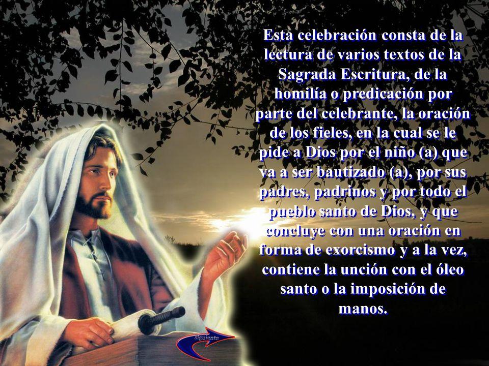 Esta celebración consta de la lectura de varios textos de la Sagrada Escritura, de la homilía o predicación por parte del celebrante, la oración de lo