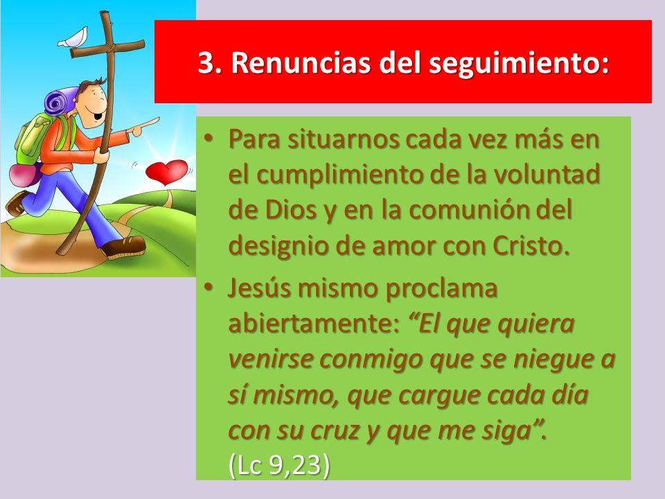 Para situarnos cada vez más en el cumplimiento de la voluntad de Dios y en la comunión del designio de amor con Cristo. Para situarnos cada vez más en