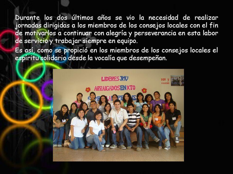 En el año 2010 los centros locales Gruta de Lourdes y Virgo Potens realizaron la jornada de infantiles, mientras que la jornada de juveniles estuvo a cargo de los centros de Santa Catalina Labouré y Nueva Esperanza.