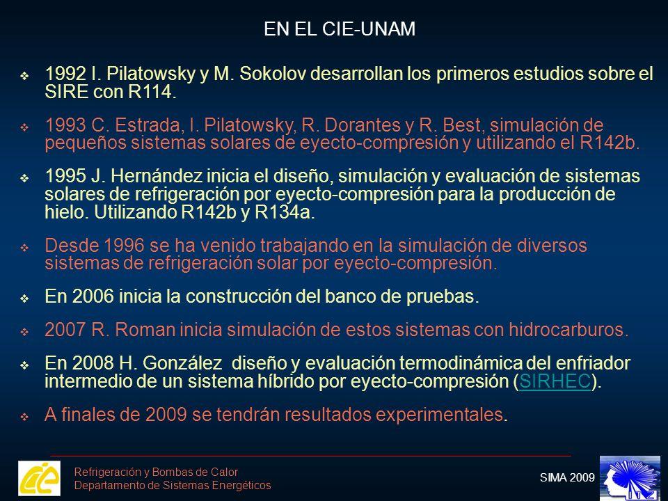 Sistema de ecuaciones del eyector obtenidas Sistema de ecuaciones del eyector obtenidas a partir del modelo de Lu.