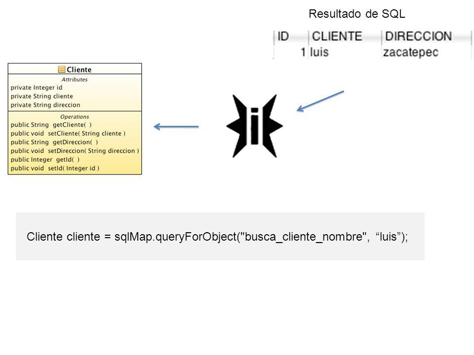 Cliente cliente = sqlMap.queryForObject(