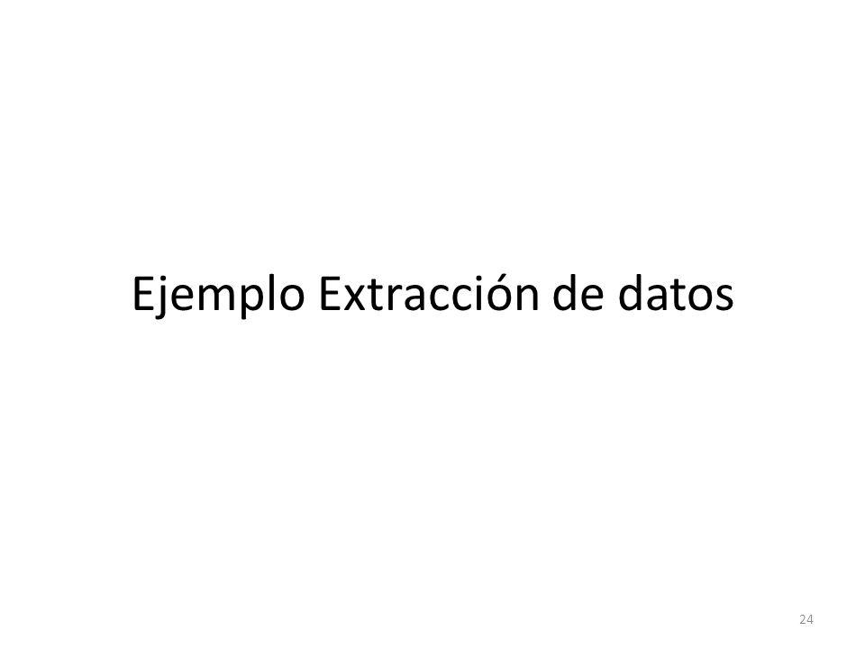 Ejemplo Extracción de datos 24