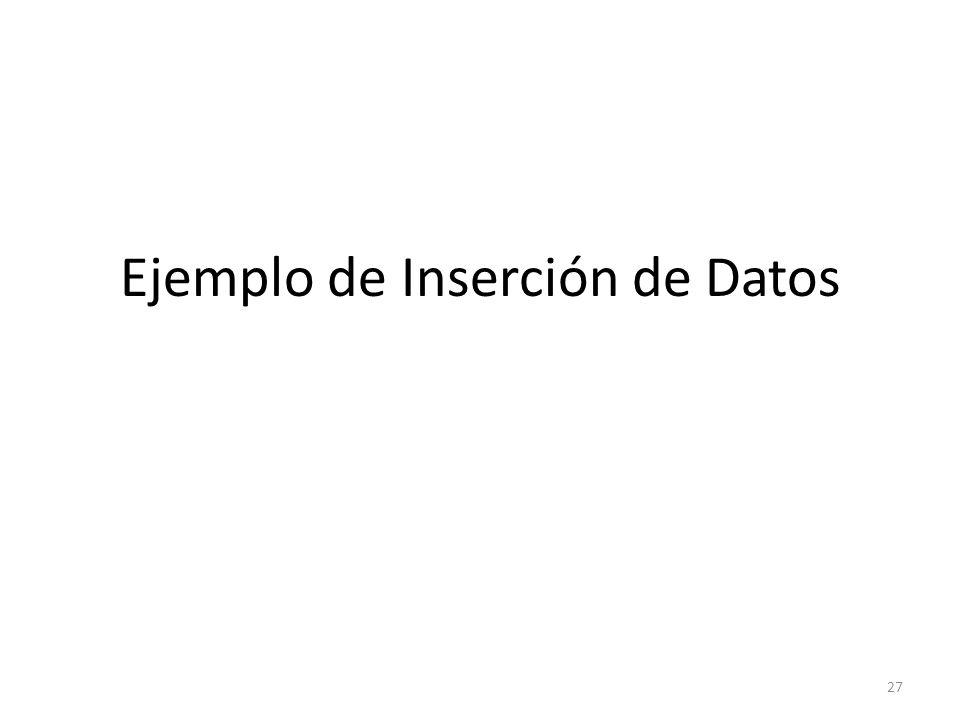 Ejemplo de Inserción de Datos 27
