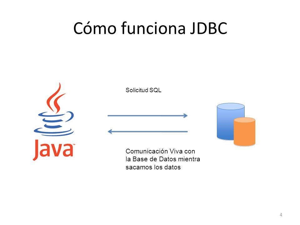 Cómo funciona JDBC 4 Solicitud SQL Comunicación Viva con la Base de Datos mientra sacamos los datos