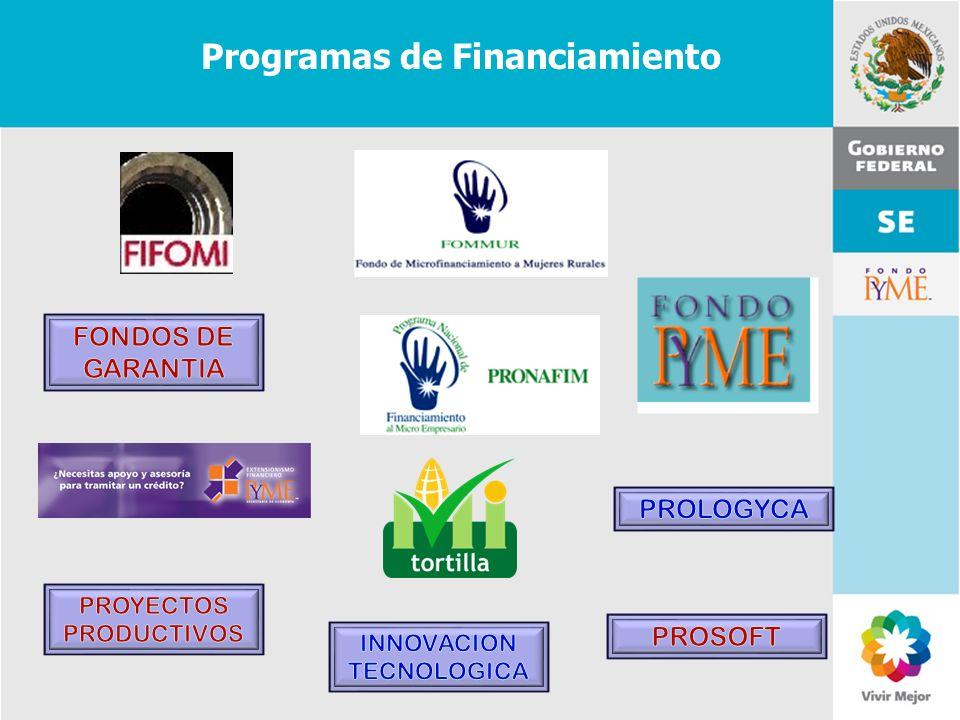 11 de Mayo de 2007Delegación Federal Cuernavaca Programas de Financiamiento
