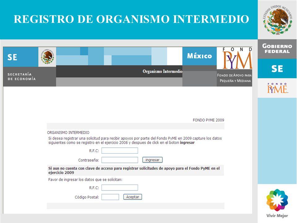 11 de Mayo de 2007Delegación Federal Cuernavaca REGISTRO DE ORGANISMO INTERMEDIO