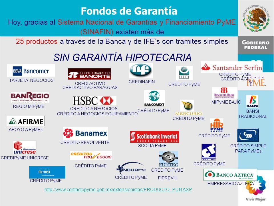 11 de Mayo de 2007Delegación Federal Cuernavaca Fondos de Garantía Hoy, gracias al Sistema Nacional de Garantías y Financiamiento PyME (SINAFIN) exist