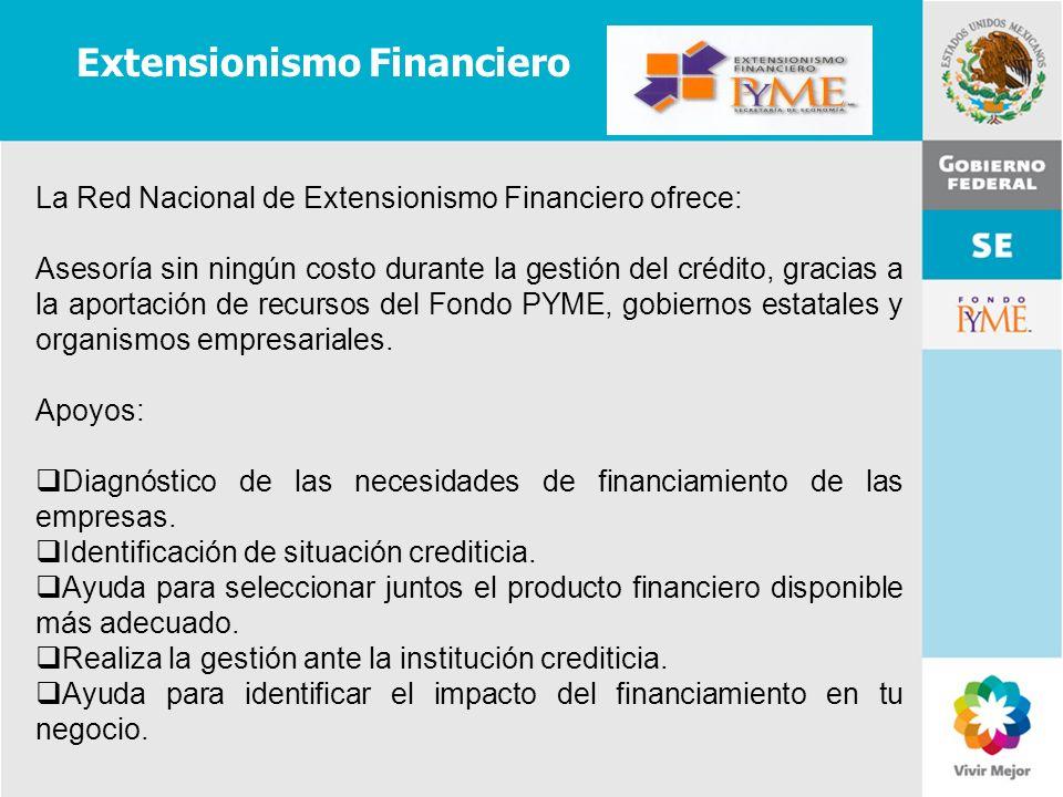 11 de Mayo de 2007Delegación Federal Cuernavaca Extensionismo Financiero La Red Nacional de Extensionismo Financiero ofrece: Asesoría sin ningún costo