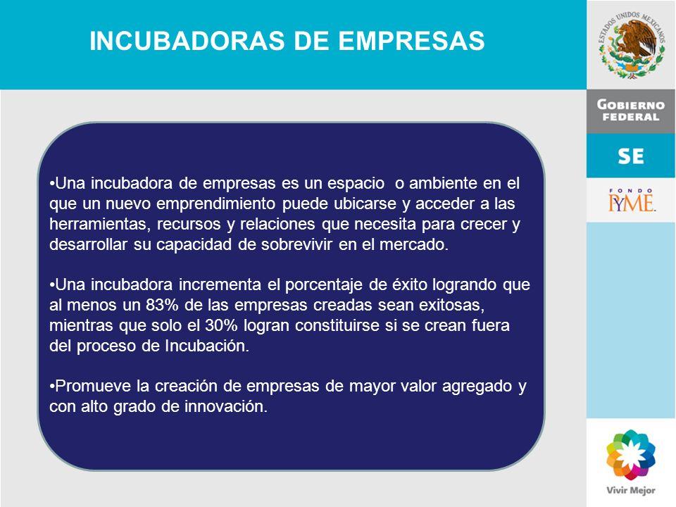 11 de Mayo de 2007Delegación Federal Cuernavaca INCUBADORAS DE EMPRESAS Una incubadora de empresas es un espacio o ambiente en el que un nuevo emprend