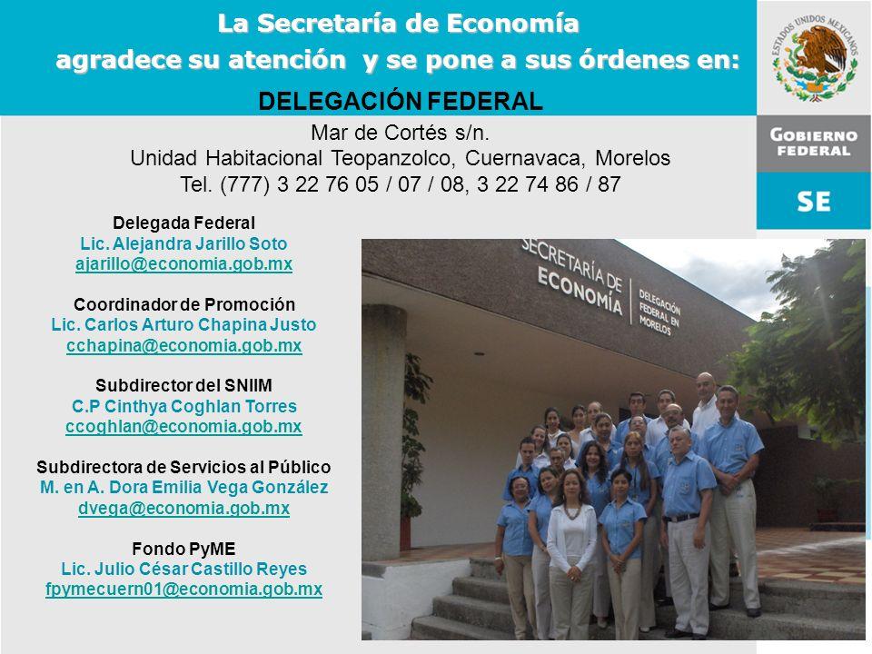 11 de Mayo de 2007Delegación Federal Cuernavaca DELEGACIÓN FEDERAL Mar de Cortés s/n. Unidad Habitacional Teopanzolco, Cuernavaca, Morelos Tel. (777)
