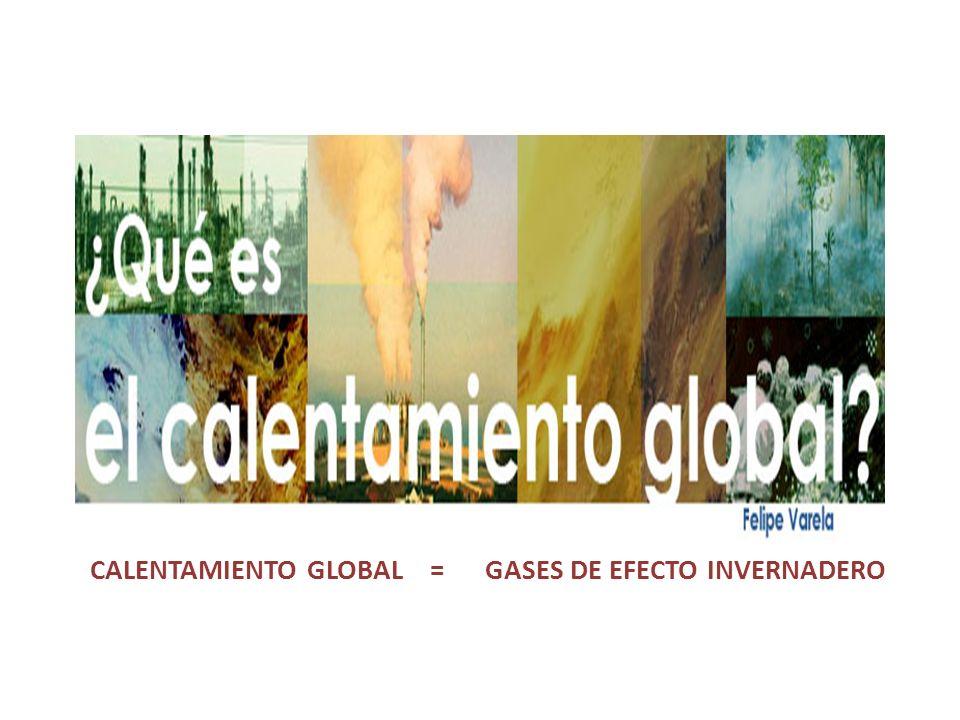 Como consecuencia del aumento de la actividad agrícola e industrial que a aumentando los gases de efecto invernadero, la temperatura global del planet
