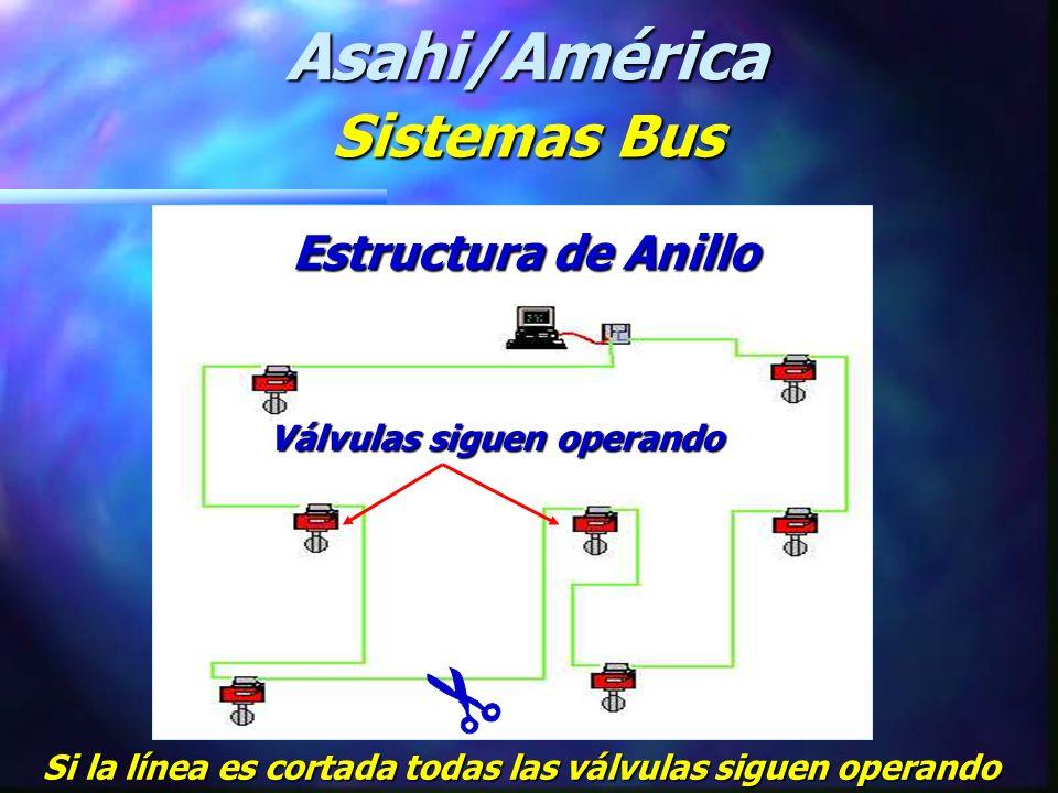 POWER SUPPLY 100 m AS-I Repetidor AS-I PS MC R R MC = Controlador Maestro AS-I PS = Suministro de Energía R = Repetidor Asahi/América Sistemas Bus Red