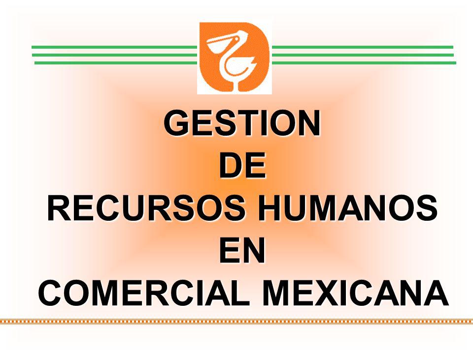 1 GESTION DE RECURSOS HUMANOS COMERCIAL MEXICANA MARZO 2009 GESTIONDE RECURSOS HUMANOS EN COMERCIAL MEXICANA