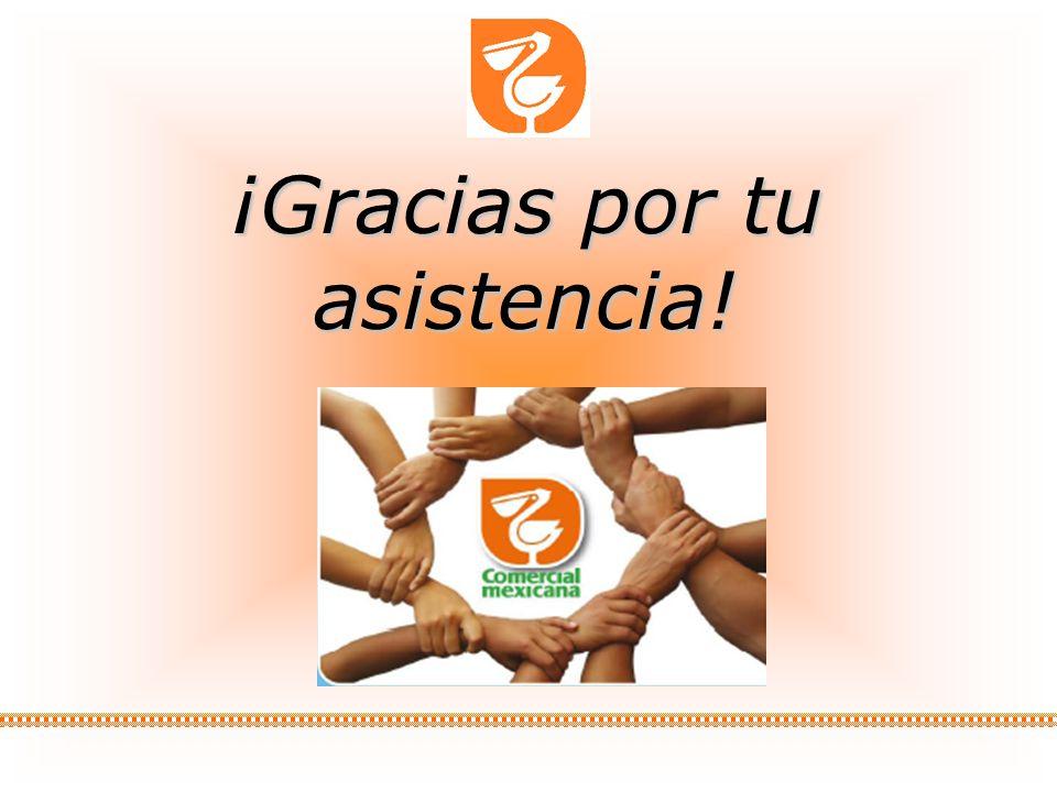 17 GESTION DE RECURSOS HUMANOS COMERCIAL MEXICANA MARZO 2009 ¡Gracias por tu asistencia!