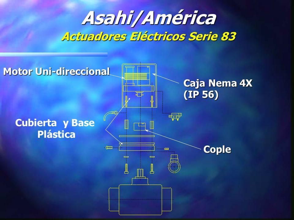 Motor Uni-direccional Cople Caja Nema 4X (IP 56) Asahi/América Actuadores Eléctricos Serie 83 Cubierta y Base Plástica