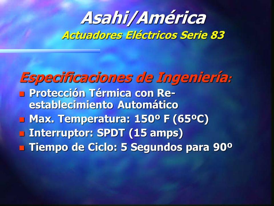 Especificaciones de Ingeniería : n Protección Térmica con Re- establecimiento Automático n Max.