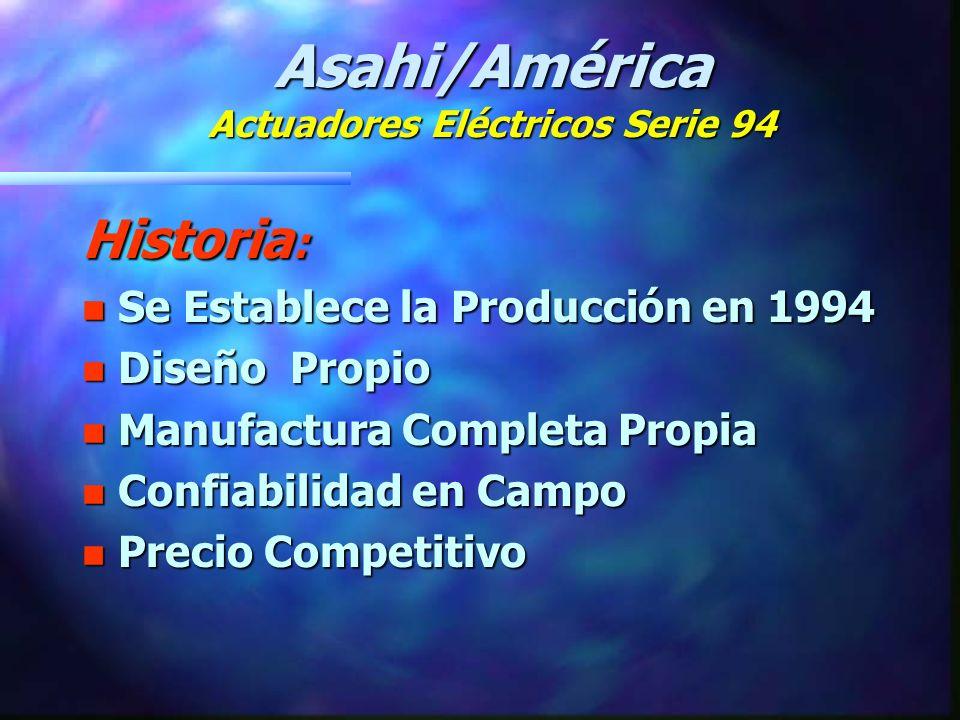 Asahi/América Actuadores Eléctricos Serie 94