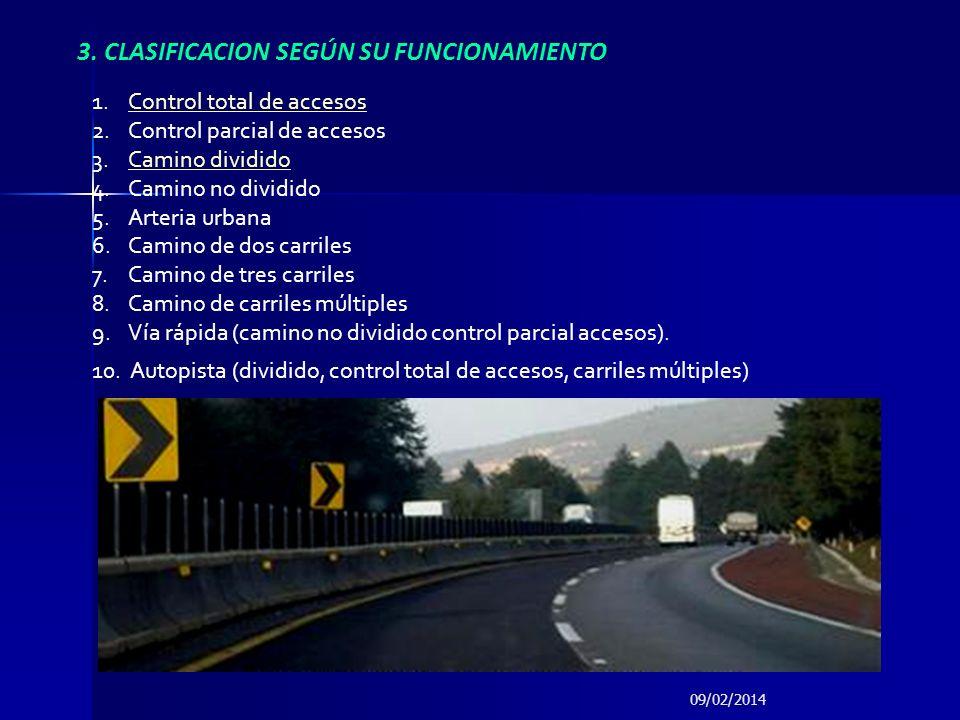 09/02/2014 Permite distinguir la categoría física del camino tomando en cuenta los volúmenes de transito sobre el camino y las especificaciones geométricas.