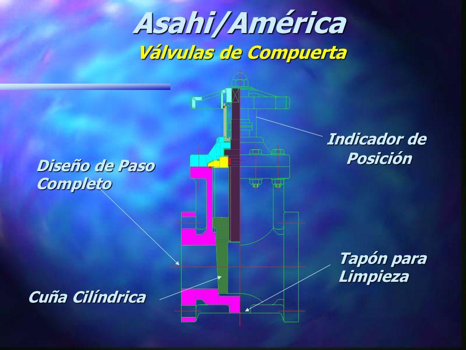 Diseño de Paso Completo Indicador de Posición Asahi/América Válvulas de Compuerta Cuña Cilíndrica Tapón para Limpieza