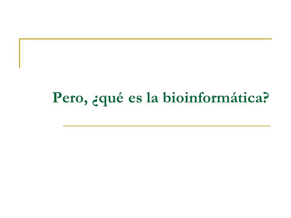Pero, ¿qué es la bioinformática?
