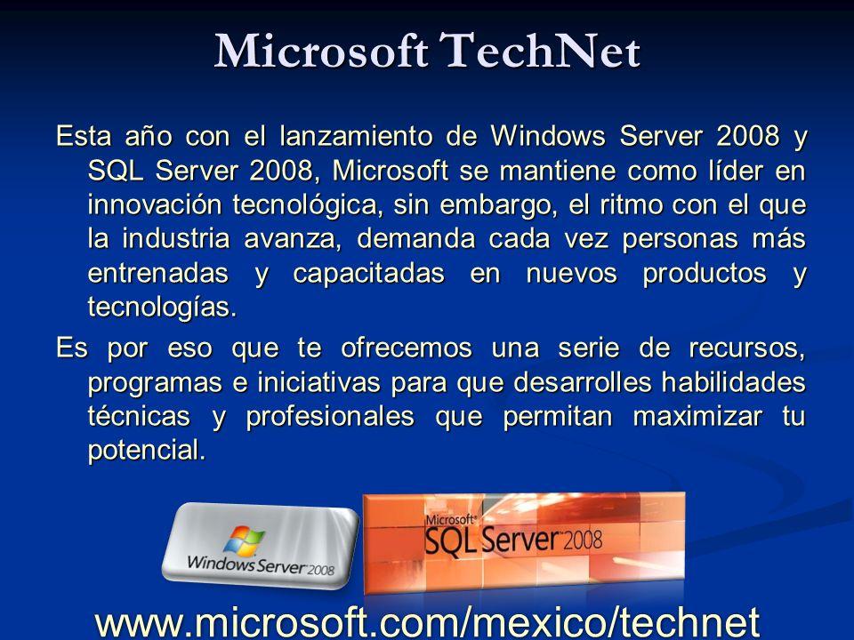 Home Page www.microsoft.com/mexico/technet