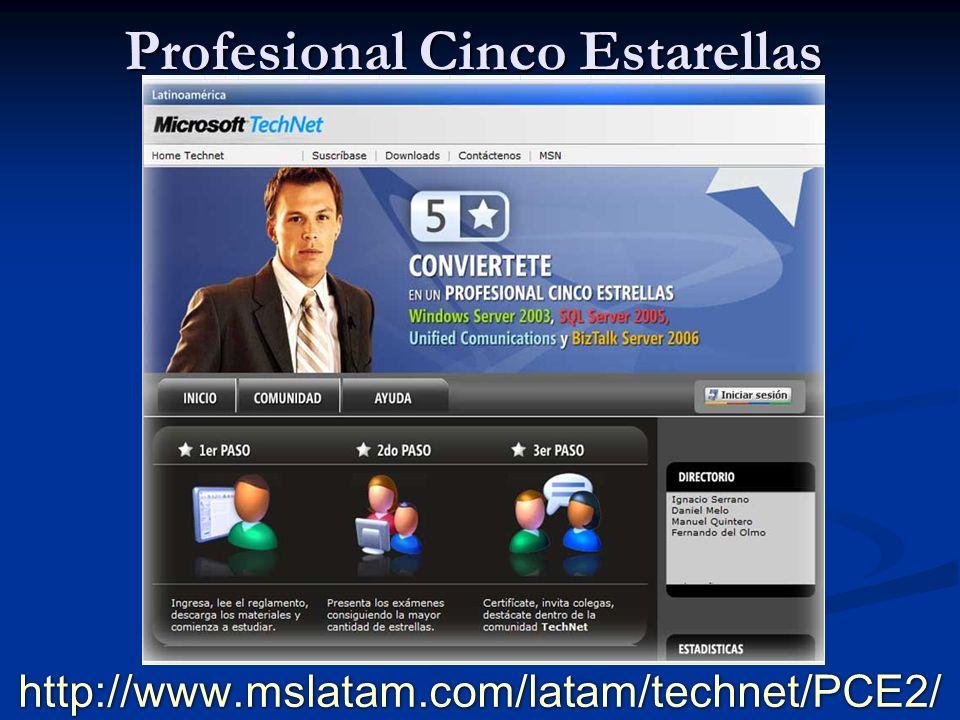 http://www.mslatam.com/latam/technet/PCE2/ Profesional Cinco Estarellas