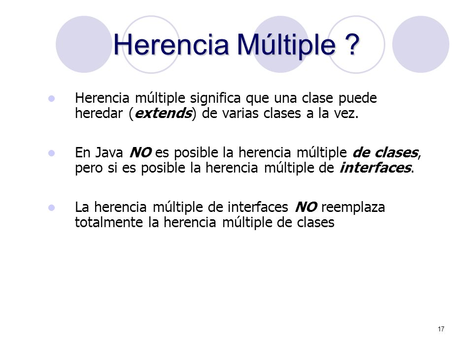 17 Herencia Múltiple .